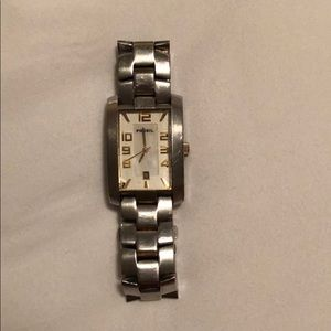 Men's fossil watch, silver and gold